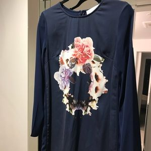 Finders Keepers Long sleeve navy floral dress